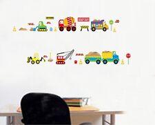 Various Construction Truck Bulldozer Crane Wall Decal Sticker Kids Room Decor