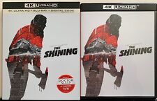 STANLEY KUBRICK'S THE SHINING 4K ULTRA HD BLU RAY 2 DISC SET + SLIPCOVER SLEEVE