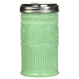 TableCraft Jadeite Green Glass Sugar Dispenser / Pourer