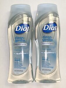 DIAL CLEAN + GENTLE HYPOALLERGENIC FRAGRANCE FREE BODY WASH 2X 16 OZ
