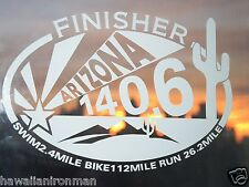 Two (2) Ironman Arizona Triathlon Finisher Decals Sticker