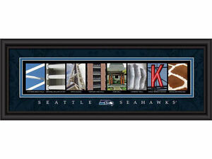 Seattle Seahawks NFL Letter Art Framed