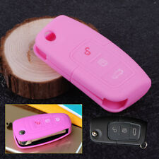 Pink Silicone Car Remote Key Fob Cover Shell Case Fit For Ford MK2 Mondeo Kuga