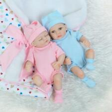 "10"" Mini Toddler Hand Reborn Baby Doll Realistic Silicone Twins Cute Gift Toys"