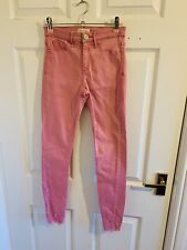 Pink Denim River Island Molly Jeans Size 6 R (3911)