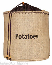Kitchen Craft Natural Elements Hessian Potato Preserving Bag With Blackout Linin