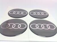 Stickers silicone centre jante moyeu de roue pour AUDI 4 x 65mm