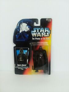 STAR WARS POWER OF THE FORCE 1995 DARTH VADER W/LIGHTSABER & REMOVABLE CAPE NIB