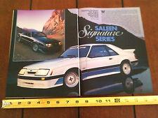 1986 STEVE SALEEN MUSTANG 5.0 - ORIGINAL ARTICLE