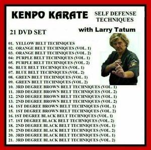 KENPO KARATE 21 DVD Self Defense Techniques  yellow to black beltLarry Tatum