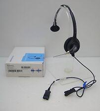 Plantronics HW251 SupraPlus Monaural Black Headband QD Headset with QD Connector
