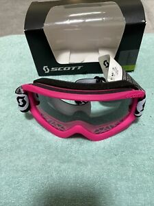 Scott Moto Sports Goggles Neon Pink Clear Lens Brand New with Tags