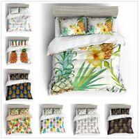 3D Pineapple Fruit Bedding Set Duvet Cover Pillowcase Quilt/Comforter Cover