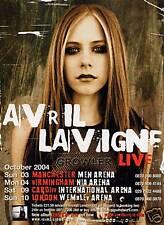 AVRIL LAVIGNE - 2004 TOUR FLYER - GENUINE RARE LIVE MUSIC CONCERT PROMO