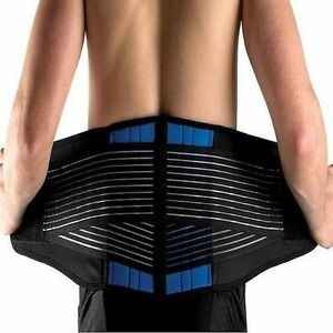 New Neoprene Double Pull Lumbar Lower Back Support Belt Brace Pain Relief