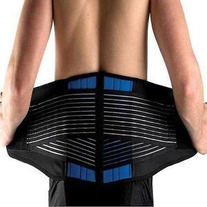 New Neoprene Double Pull Lumbar Lower Back Support Belt Brace Pain Relief