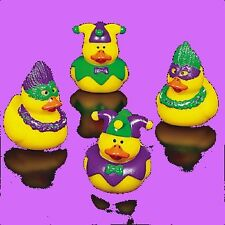 DUCKY POWER! New MARDI GRAS Rubber Duckies x4