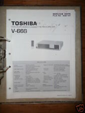 Manual De Servicio Toshiba V-66 Vídeo Recorder,ORIGINAL