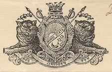 India Morvi State 1937 Navlakhi Port SS WARFIELD Arms List signed Captain