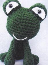 Crochet Pattern ~ Big Headed Frog Stuffed Animal Kids Toy ~ Instructions
