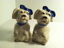 VINTAGE MUGSY TOOTHACHE DOG LARGE RANGE TOP SALT & PEPPER SHAKERS
