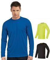 Hanes Cool-DRI 7792 Plain Long Sleeve Polyester Performance Sports Tee T-Shirt