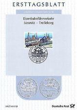BRD 2009: Eisenbahnfähre Sassnitz - Trelleborg! Ersttagsblatt der Nr. 2746! 1612