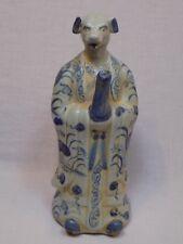 Dog Asian Chinese Japanese? Pottery Pitcher Teapot Blue White Foo Dish China