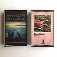 Roxy Music Cassettes x 2 - Stranded & Avalon - ZC1 9252 & 3100 641 Paper Labels
