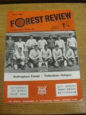 12/04/1969 Nottingham Forest v Tottenham Hotspur  (creased). Thank you for viewi