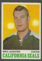 1970-71 O-Pee-Chee California Golden Seals Hockey Card #74 Mike Laughton