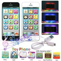 LED Play Music Phone Toy Early Learning Educational Cell Phone for 3+ Boys Girls