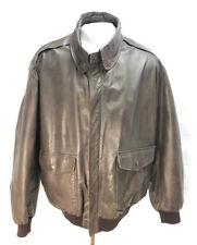 LL Bean Flying Tiger Jacket Flight Bomber Leather Sz XL USA Vintage Distressed