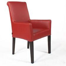 Armlehnstuhl Galdo | Leder Rot Beine Wenge | Lederstuhl Stuhl Stühle Lederstühle