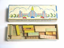 VINTAGE 1950'S ERA BUILD A SKYSCRAPER WOOD SET MADE IN WESTERN GERMANY IN BOX