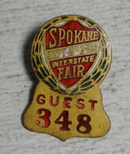 Small Enameled Pin, Guest Entry, Spokane Interstate Fair 1913   0123-93