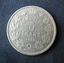 Munt België/Belgique: 5 FRANK (EEN BELGA) 1930 Pos.B (vlaamse legende)
