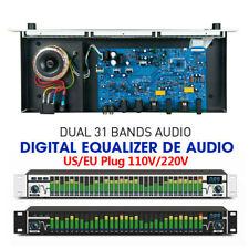 Dual 31 Bands Audio Digital Equalizer de audio Professional w/ LED spectrum