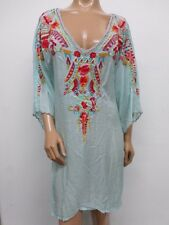 NWT Johnny Was Tie Back High-Low Embroidered Tunic - 1X - OL44720616