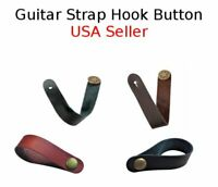 Genuine Leather Guitar Strap Hook Button For Acoustic / Folk / Guitar