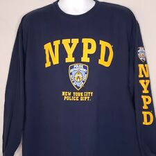 NYPD Size 2XL T-Shirt Officially Licensed Long Sleeve Blue New York Police Mens