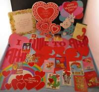 Vtg Hallmark Lot Diecut Decorations Cupids Hearts Valentine's Day Cards Garfield