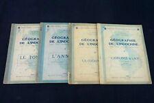 Bouault Lataste Géographie de l'INDOCHINE Tome 1-2-3-4 manuels scolaires Réf 223
