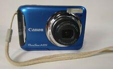 "Canon PowerShot A495 Digital Camera 10.0MP 2.5""3.3x OZ Blue Good Condition"
