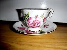 Stunning Aynsley English China Duo ~ Tea Cup & Saucer ~ Gilded Pink Rose 2972