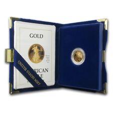 1989-P 1/10 oz Proof Gold American Eagle (w/Box & COA) - SKU #7495