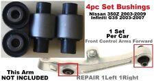 4pcSet Bushings fit RWD Nissan 350z 2003-2009 Front Lower Arm Infiniti G35 03-07
