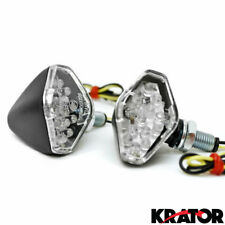 2 New Motorcycle Replacement Stalk Turn Signals Blinkers Amber Indicators Light