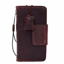 Genuine Leather case for LG Nexus 5X book wallet handmade cover magnet brown