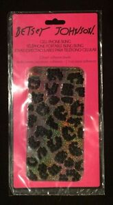 Betsey Johnson iPhone 4 and 4s Cell Phone Bling Animal print